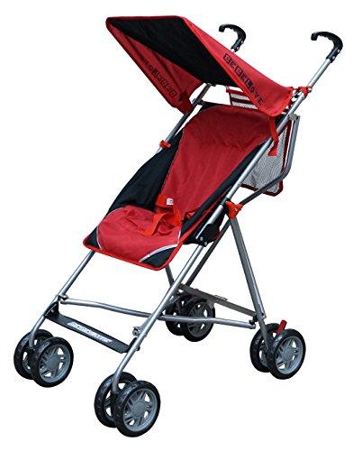 Single Umbrella Stroller with Tilt Back Seat Red