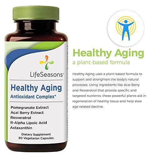 51vh3BN59ZL - Healthy Aging - Anti Aging Supplement - Neutralize Free Radicals - Antioxidant Complex - Formula Includes Acai Berry, Astaxanthin, Resveratrol, R-Alpha Lipoic Acid & Pomegranate Extract (90 Capsules)