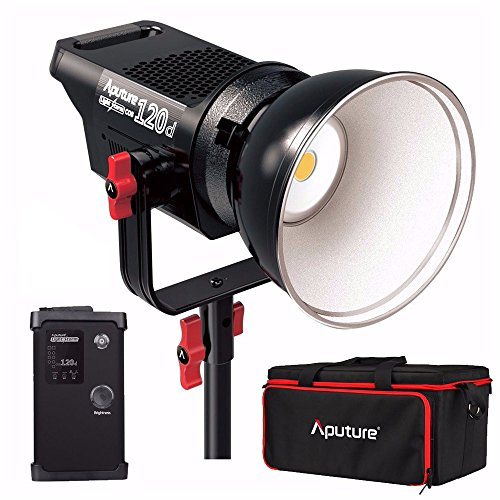 Aputure Light Storm COB 120d Kit CRI96+ TLCI96+ 6000K 135W Bowens Mount High Power LED Continuous Video Light - 18dB Low Noise with 2.4G Remote Control and V-Mount Plate by Aputure