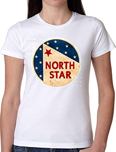 T SHIRT JODE GIRL GGG22 Z1288 STAR BRAND AMERICA VINTAGE USA LOGO FASHION COOL BIANCA - WHITE L