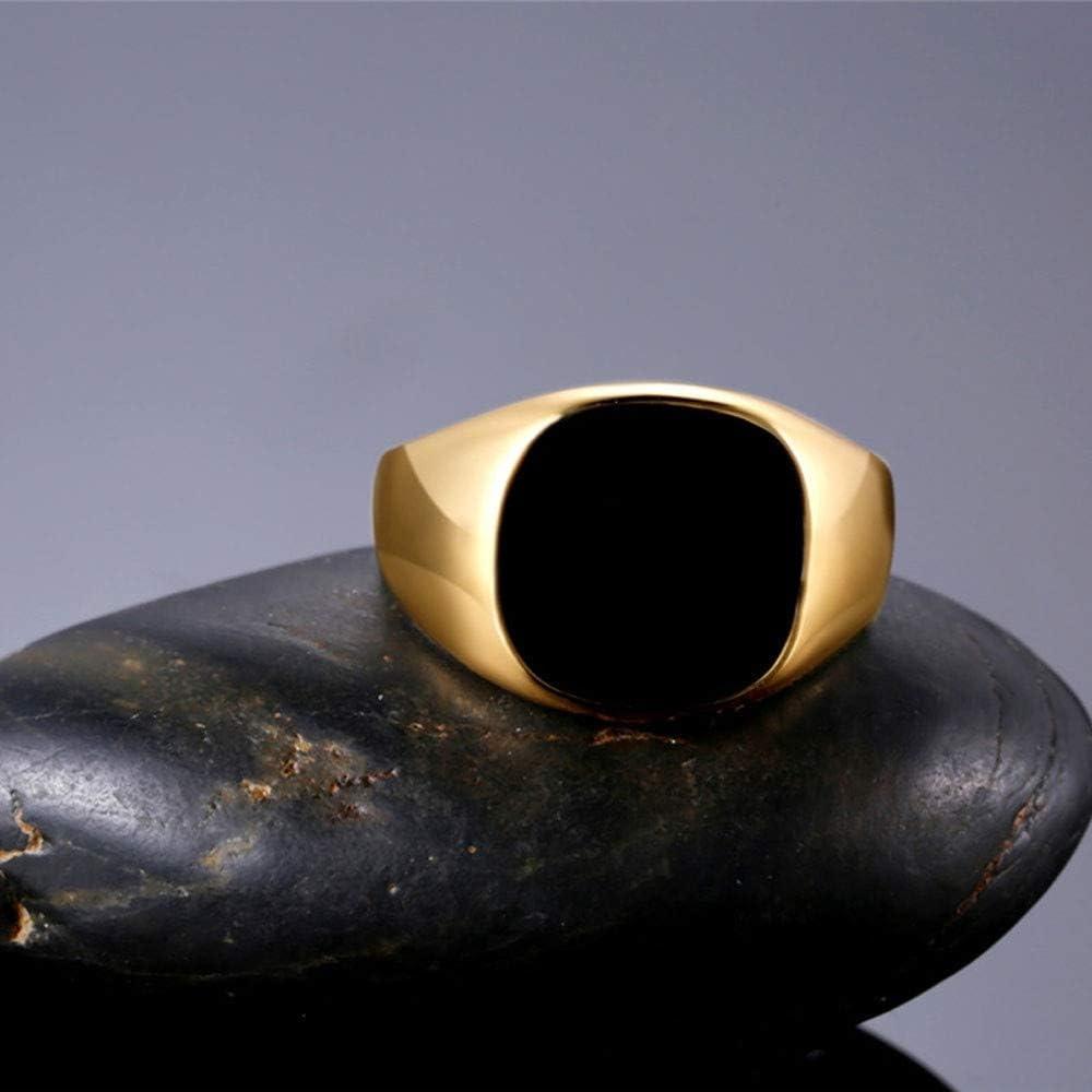 RainBabe Bague Homme Classique Zinc Alliage Noir Bijoux D/écoration Original Num/éro 7-12 Cadeau Original Anniversaire