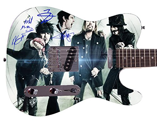 Mötley Crüe Autographed Signed Custom Graphics Guitar