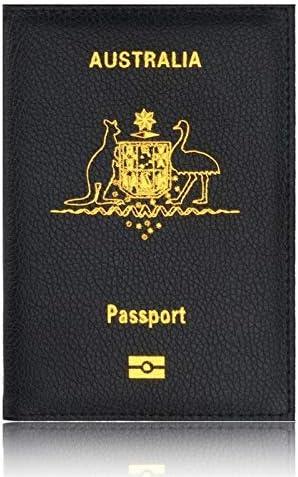 Prot/¨/¨ge Passeport Housse Enfant Porte-Passeport en Cuir PU Etui de Passeport de Voyage Couverture Universelle de Passeport de Cuir dunit/¨/¦ Centrale pour des Hommes et des Femmes