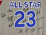2017 NBA East All Star Team Autographed Signed White Jersey Lebron James Kyrie Irving Giannis Antetokounmpo