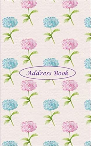 address book hydrangea address book with pretty watercolor