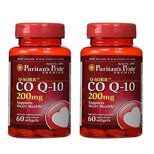 Puritan's Pride Q-Sorb Co Q-10 200 mg-60 Rapid Release Softgels (2)