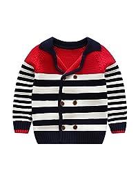 Tortor 1bacha Little Boys' Stripe Double Breasted Cardigan Sweater