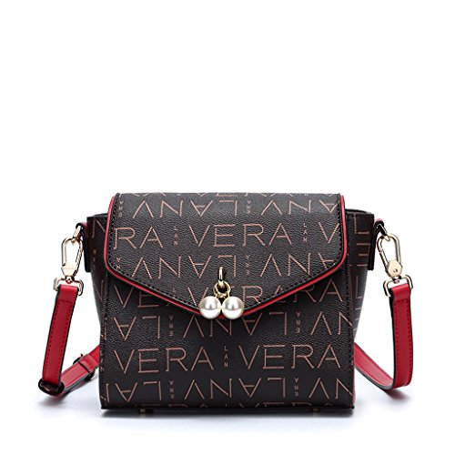 PU de femelle Sac coréenne PVC à féminin Red Bag version avec bandoulière Messenger sac Sac gFXw4qP