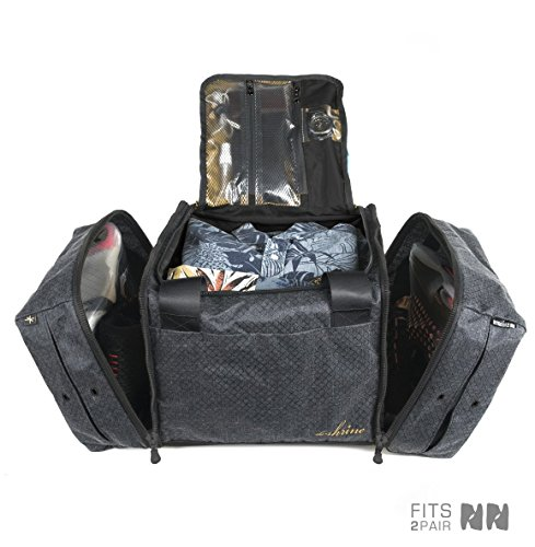 The Shrine Sneaker Duffel, Black/Gold by The Shrine