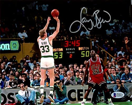Larry Bird Autographed 8x10 Photo Boston Celtics Beckett BAS