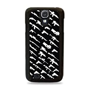 143 Rogue Status Gun Pattern Samsung Galaxy S4 Silicone Case - Black