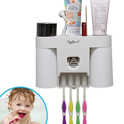 Toothpaste Dispenser Toothbrush Raphycool Organization product image