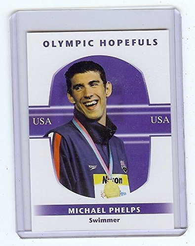 RARE MICHAEL PHELPS 2008 OLYMPIC TEAM USA SWIMMING CARD! - Michael Phelps Olympic Medals