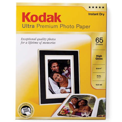 Kodak Ultra Premium Photo Paper High Gloss – 65 Sheets – 8.5 X 11, Office Central