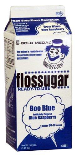 Cotton Candy Sugar Floss Boo Blue-Blue Raspberry(3.25 LBS)