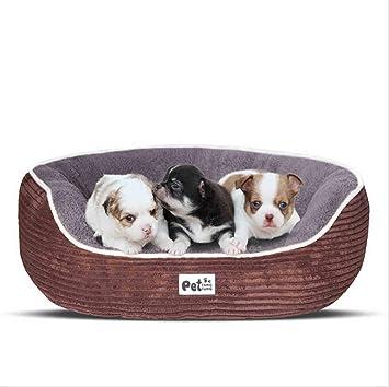 Calentar Raya Pana Perrera Suave Sofá para Perros Cómodo Cama De Perro Tela Oxford Fondo Antideslizante