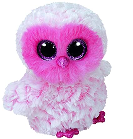9a6fb0bf292 Amazon.com  Ty Beanie Babies Boos 36858 Twiggy the Pink Owl Large Boo  Toys    Games
