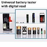 Large Battery Organizer Storage Case with Digital