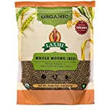 Laxmi Organic Whole Moong, Mung Bean Seeds - 2lbs for Cooking & Sprouting