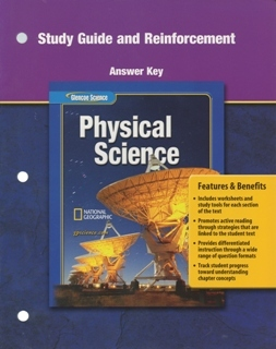 study guide and reinforcement answer key for glencoe physical rh amazon com physical science chapter 3 study guide answer key physical science final exam study guide answer key