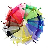 CMAJOR Organza Bags 100pcs Satin Drawstring Wedding Favor Jewelry Candy Watch Party Gift Pouch