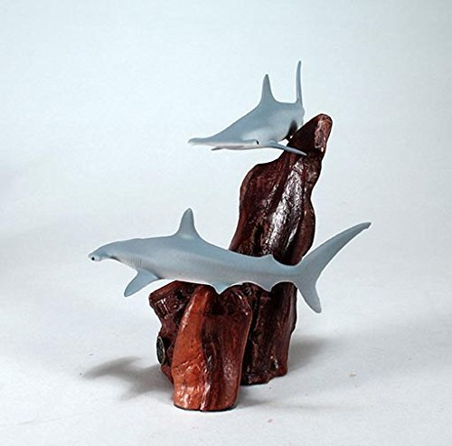 hammerhead-shark-duo-sculpture-new-direct-by-john-perry-statue-airbrushed