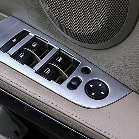 2012 Cornici dei Pannello Interno Portiera Plastica ABS 4 pezzi HIGH FLYING per E90 Serie 3 2005
