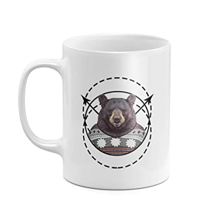 Amazon Com Cute Brown Bear With Sweater Aesthetic Circles Swag