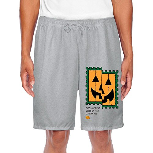 Shorts Sweatpants Pumpkin Face Trick Or Treat Kiss My AssJogging Trousers For Man (Pokemon Trick Or Treat)