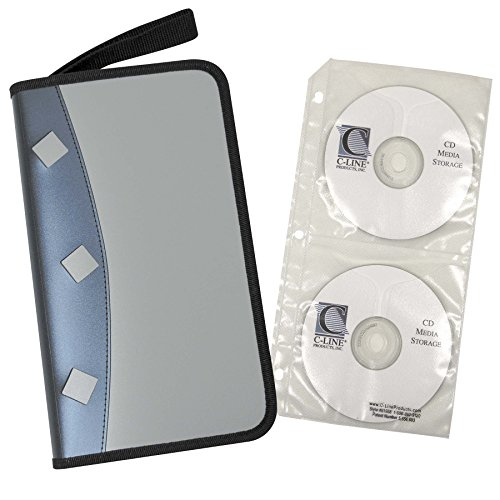 Refillable Cd Holder - C-Line Refillable 12-Page CD/DVD Organizer Case, 48-CD Capacity, Multicolored (61955)
