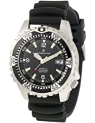 Momentum Mens 1M-DV06B1B M1 Deep 6 Stainless Steel Dive Watch With Black PU Band