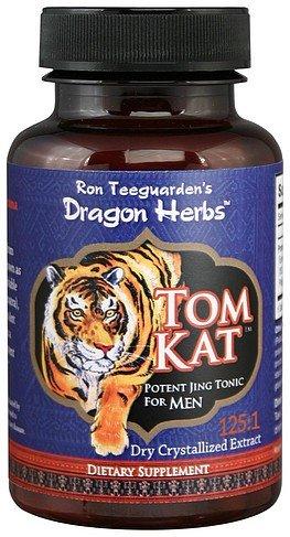 Dragon Herbs TomKat - 250 Mg - 100 Vegetarian Capsules - 100% Natural Certified Tongkat Ali Root, Longjack Premium Grade, 125:1 Pure Extract, Vegan, Non-GMO, Gluten Free, Natural Herbal Testosterone (Best Herb Tongkat Ali)