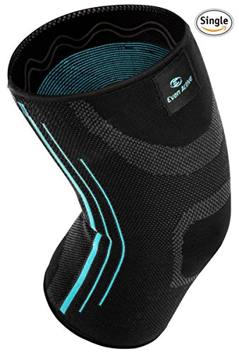 Even Active Knee Compression Sleeve - Best Knee Brace Wrap Support - for Sports Running Crossfit Basketball Joint Pain Relief Arthritis Injury Recovery