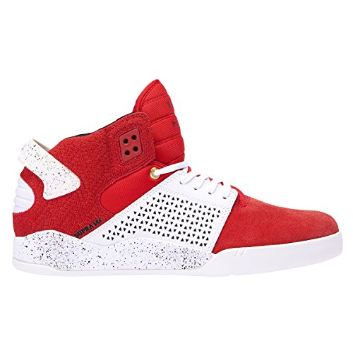 Supra Skytop III Shoes - Red / White Speckle UK 10