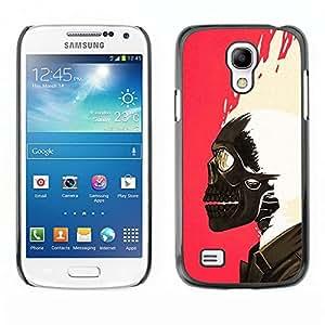 LECELL--Funda protectora / Cubierta / Piel For Samsung Galaxy S4 Mini i9190 MINI VERSION! -- Skull Paint Pink White Biker Pink --