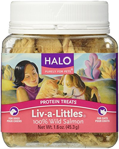 Halo Purely For Pets Liv-a-Littles Protein Treats 100% Wild Salmon -- 1.6 (Halo Treats)