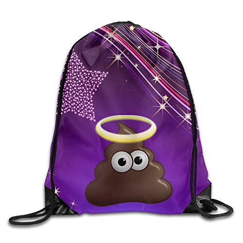 [YYHU Cute Emoji Poo Giddy Face Training Gymsack - Great For Travel And Everyday Life] (Halloween Toronto Costumes)