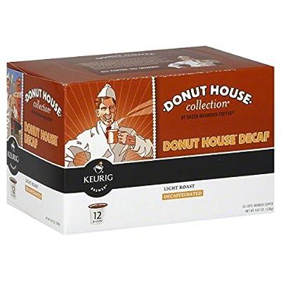 Donut House Decaf Keurig K-Cup Coffee - Light Roast Decaffeinated (12 K-Cups)