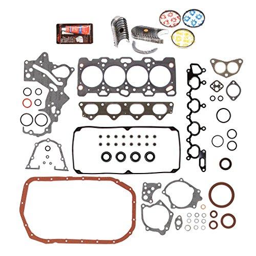 Full Sohc Kit Gasket (Evergreen Engine Rering Kit FSBRR5039-2EVE\0\1\1 98-99 Mitsubishi Montero Sport 2.4L SOHC 4G64 Full Gasket Set, 0.25mm / 0.010