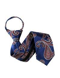 Blue - Red Boys 11 inch Zipper Necktie