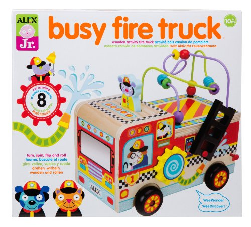 (ALEX Jr. Busy Fire Truck Wooden Activity Center)