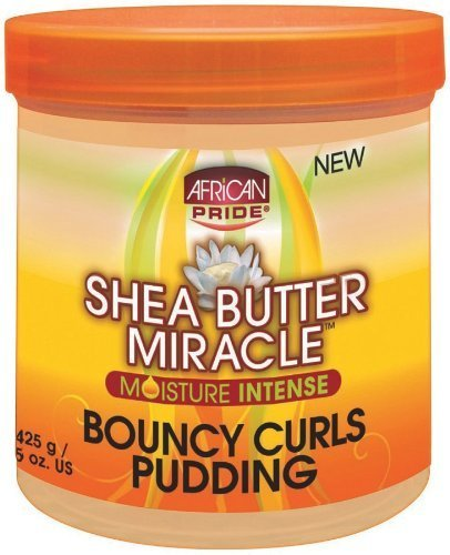 African Pride Shea Butter Miracle Bouncy Curls Pudding 15 oz. (Pack of - Pudding Butter