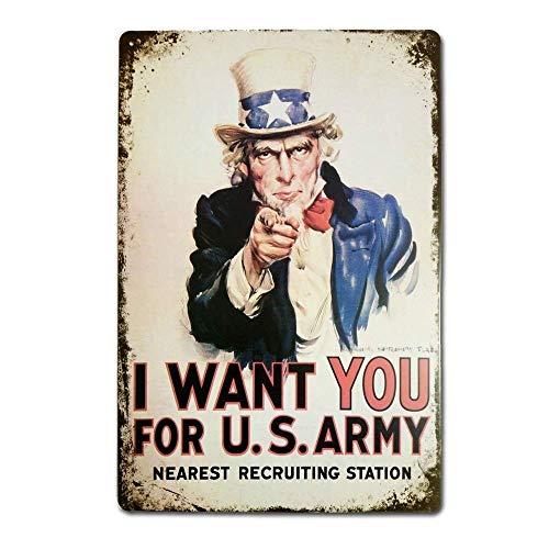米軍にあなたが欲しい 金属板ブリキ看板警告サイン注意サイン表示パネル情報サイン金属安全サイン