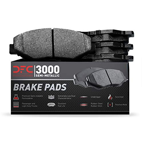 Front Dynamic Friction Company 3000 Semi-Met Brake Pads 1311-0220-00