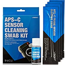 VSGO APS-C Frame (CCD/CMOS) Digital Camera Sensor Cleaning Kit - Swab DDR-16 Type 2 (Box of 12 X 16mm Swab, 0.5ounce Sensor Cleaner)