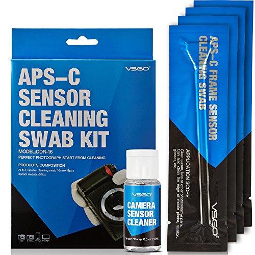 VSGO DDR16 DSLR or SLR Camera APS-C Sensor Cleaning Kit (12 X 16mm Sensor Cleaning Swabs + 15ml Sensor (Slr Kit)