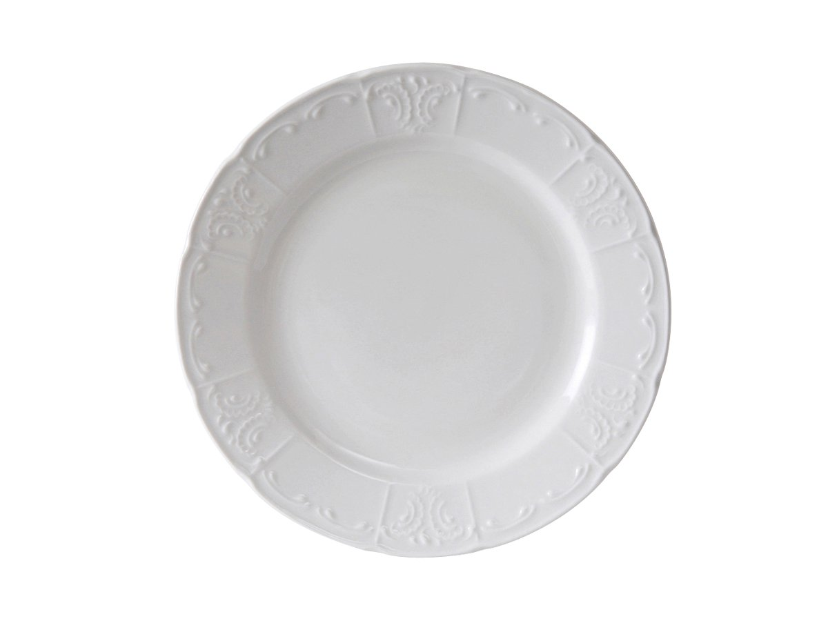 Tuxton CHA-111 Vitrified China Chicago Plate, 11-1/8'', Porcelain White (Pack of 12)