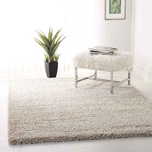 Safavieh California Premium Shag Collection SG151-1313 Beige Area Rug (8'6