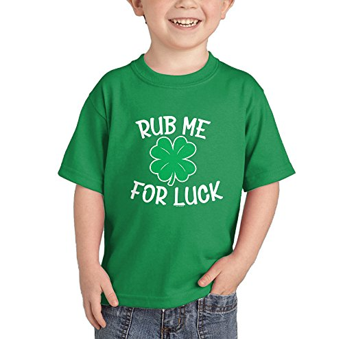 HAASE UNLIMITED Rub Me for Luck - St. Patrick's Day T-Shirt (Kelly Green, 3T) ()