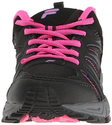 Fila Donna Trailbuster 2-w Trail Runner, Nero / Blu Atomico / Rosa Bagliore, 9,5 M Us